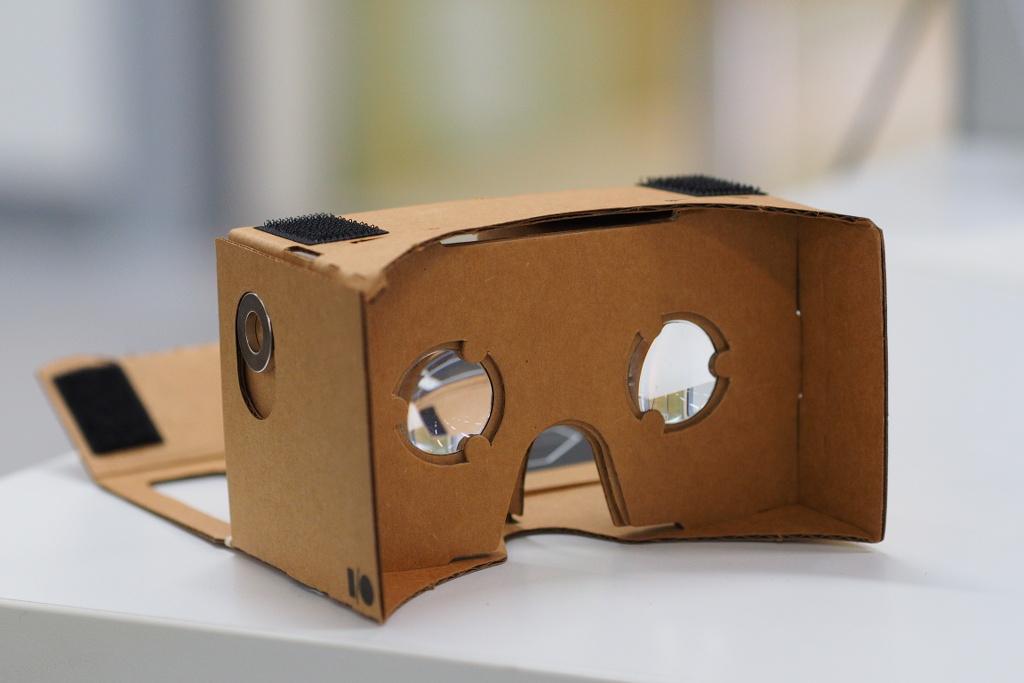 Google Cardboard montadas. Gafas de Realidad Virtual